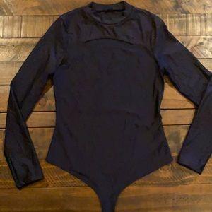Black Cutout Spandex Bodysuit 🖤